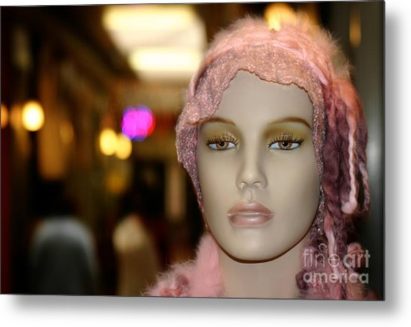 Shopping Girl Metal Print