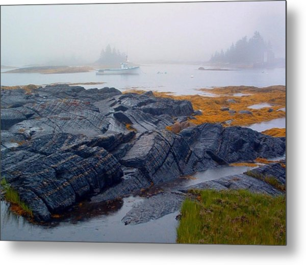 Shorelines Bluerocks Lunenburg Nova Scotia Metal Print