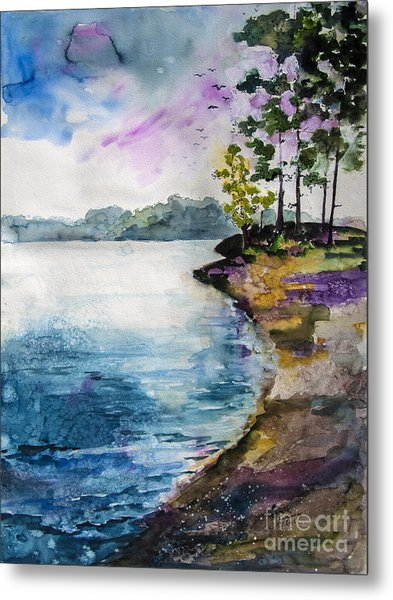 Shores Of Lake Lanier Georgia Metal Print