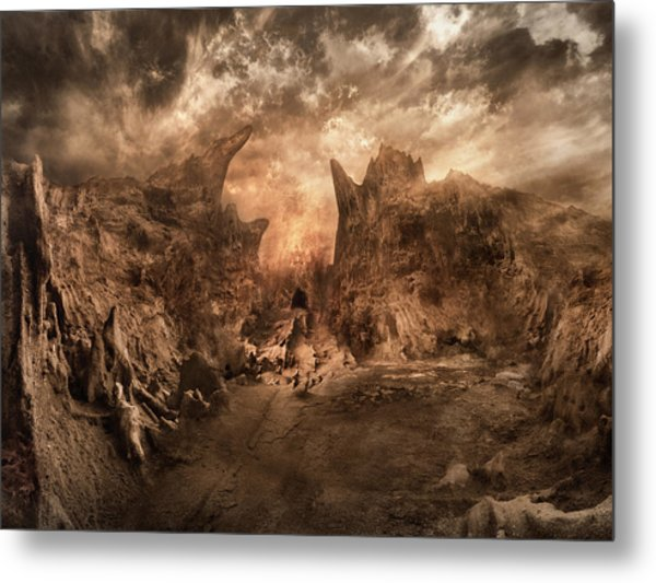 Shouting Valley Metal Print by Akos Kozari