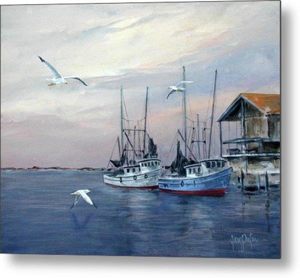 Shrimp Boats At Joe Patti's Metal Print