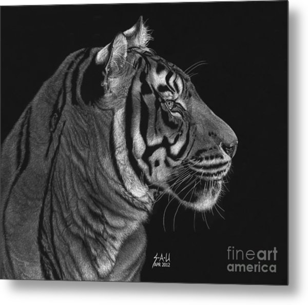 Siberian Tiger Metal Print