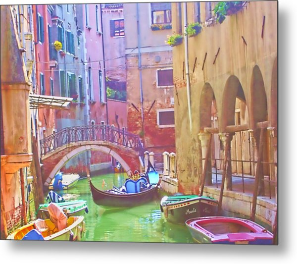 Siesta Time In Venice Metal Print
