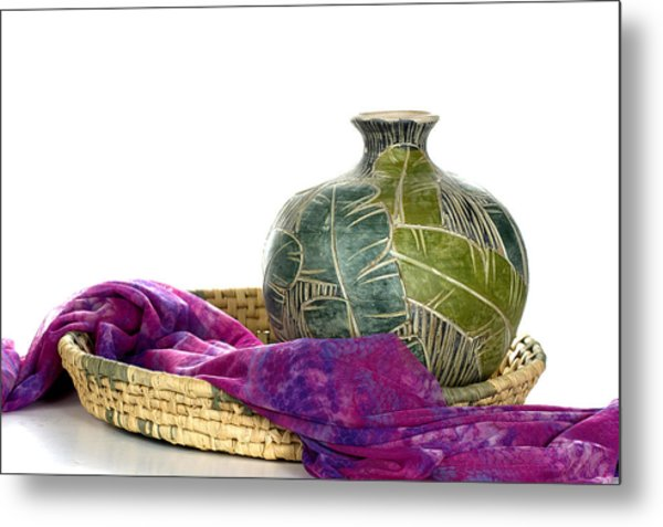 Simple Mexican Elegance Metal Print by Trudy Wilkerson