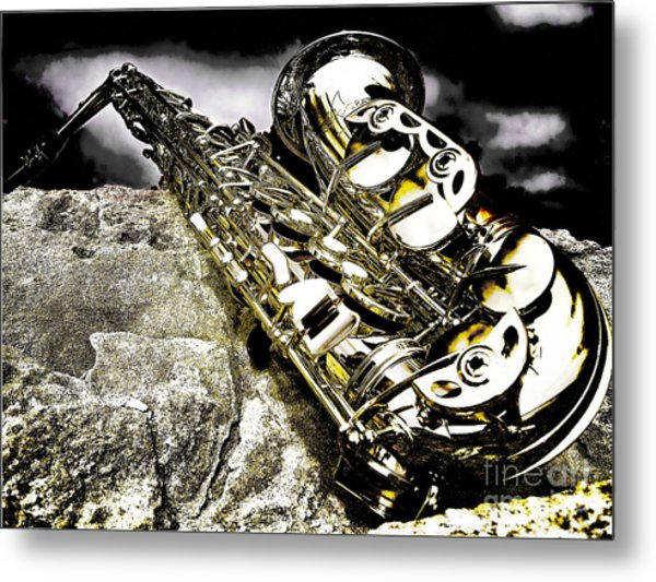 Simply Sax Metal Print