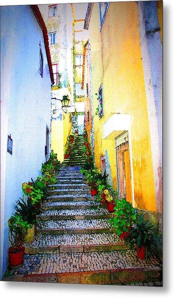 Sintra Portugal Stairs Metal Print by Michael Dantuono
