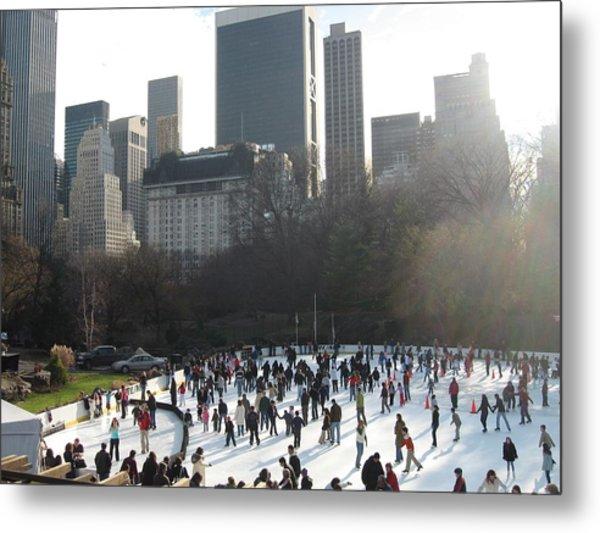 Skating In Central Park  Metal Print