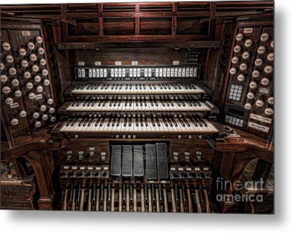 Skinner Pipe Organ Metal Print