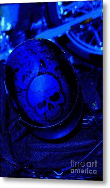 Skull Cap Metal Print