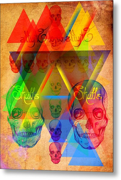 Skulls And Skulls Metal Print by Kenal Louis