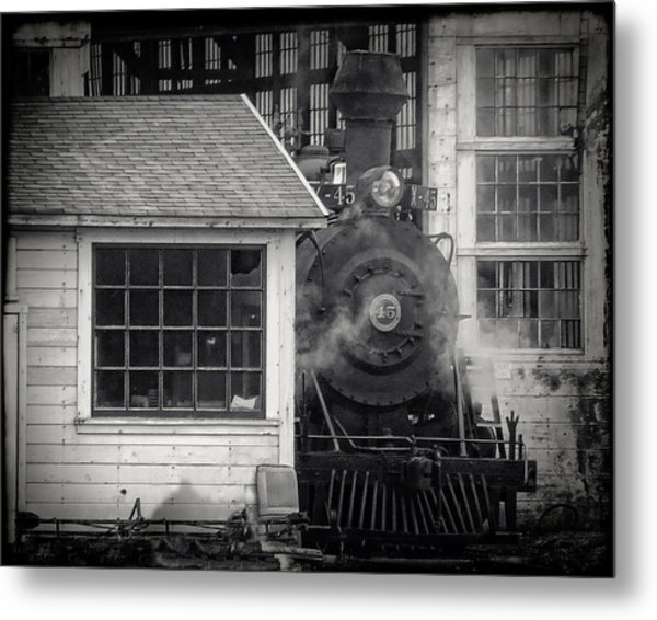 Skunk Trains Cabin Metal Print