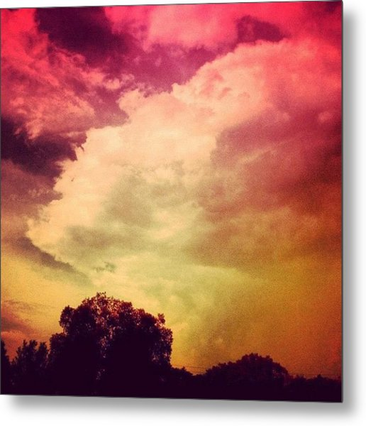 #sky #cary #colourful #clouds ☁ Metal Print