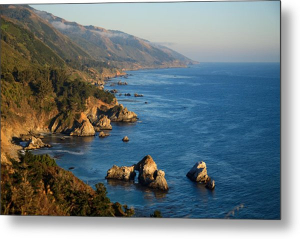 Slate Hot Springs Coast Metal Print