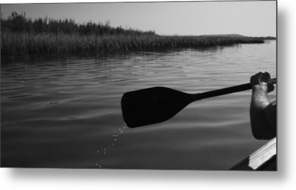 Slow Paddle Metal Print