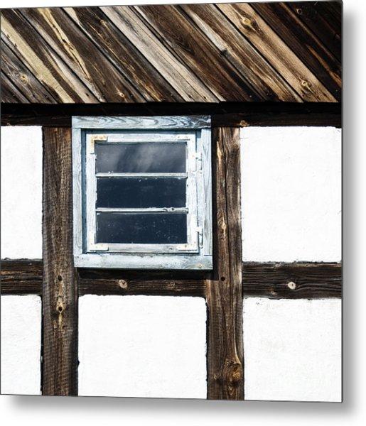 Small Blue Window Metal Print
