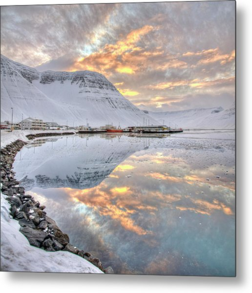 Small Village In Region Of Westfjords In Iceland