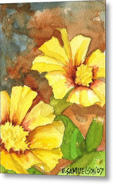 Small Yellow Flowers Metal Print