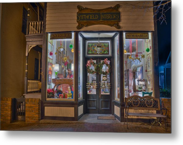 Smithfield Interiors Metal Print by Williams-Cairns Photography LLC