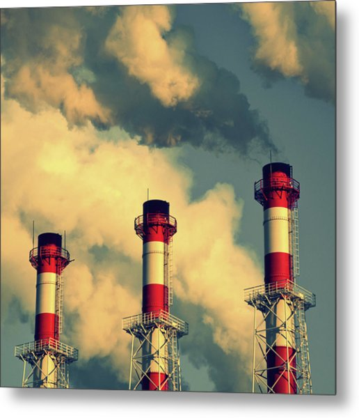 Smoke Coming From Big Chimneys, Moscow Metal Print by Fedor Vilner