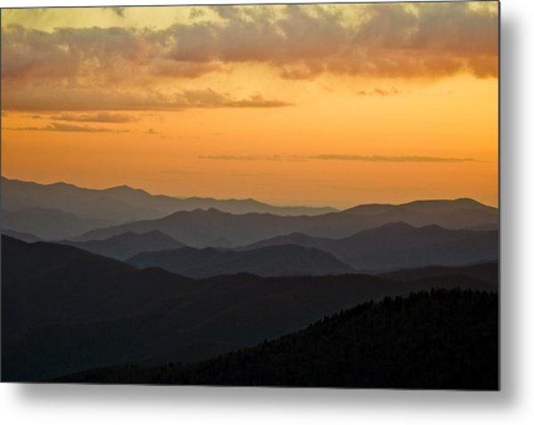 Smokey Sunset 1 Metal Print