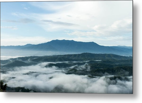 Smoky Mountain Morning   Metal Print by Glenn Lawrence