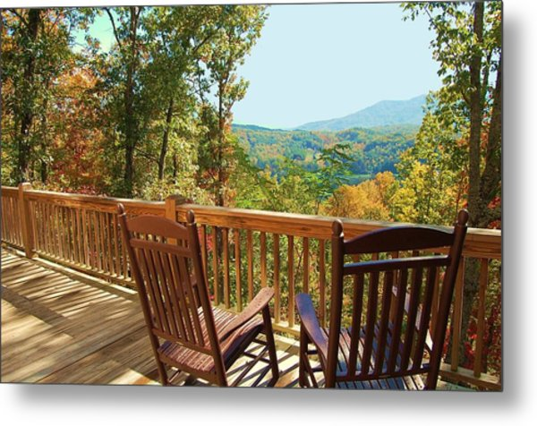 Smoky Mountain Rockers Metal Print by Mary Anne Baker