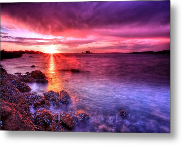 Snapper Island Sunset Metal Print