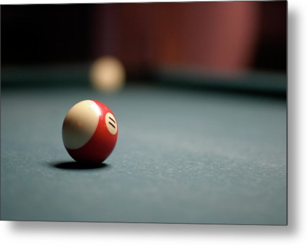 Snooker Ball Metal Print by Photo by Andrew B. Wertheimer