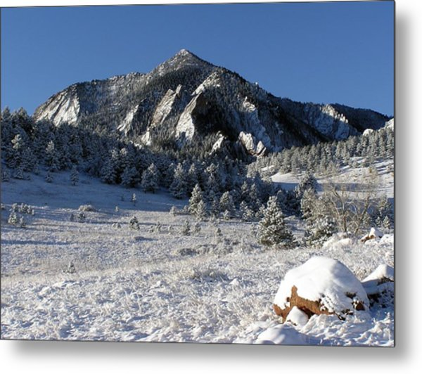 Snow Covered Bear Mountain Metal Print