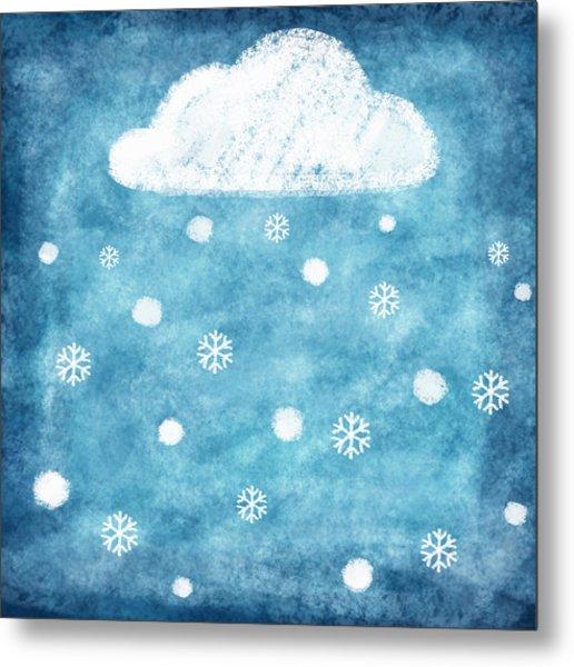 Snow Winter Metal Print