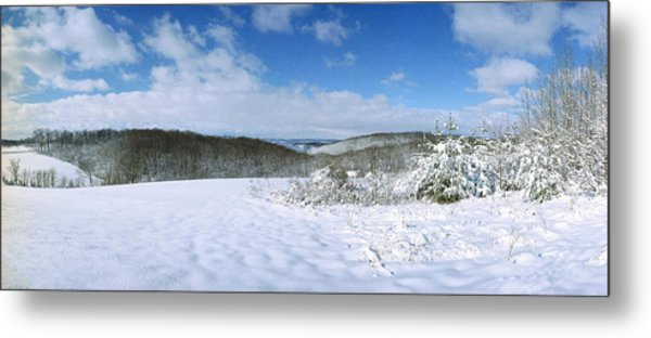 Snowy Hill Metal Print by Jan W Faul