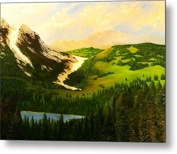 Snowy Mountain Metal Print by Nelson