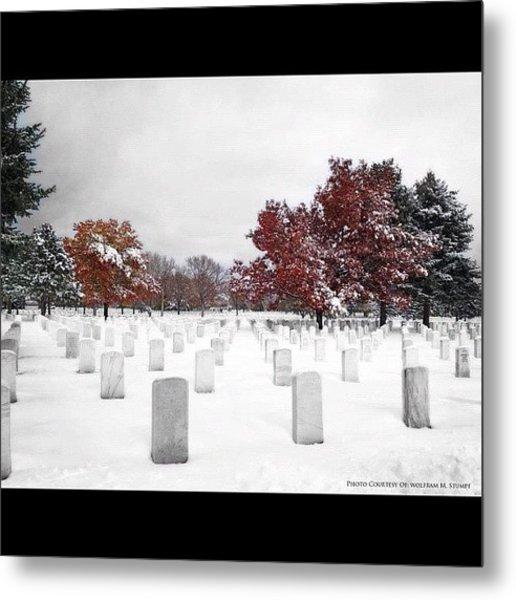 Snowy National Cemetery Metal Print