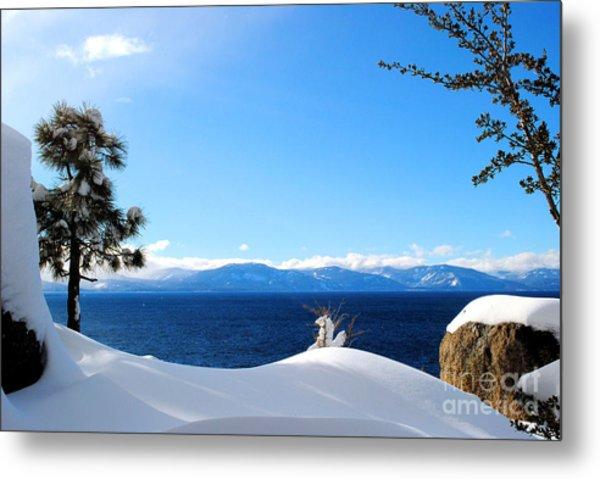 Snowy Tahoe Metal Print by Sean McGuire