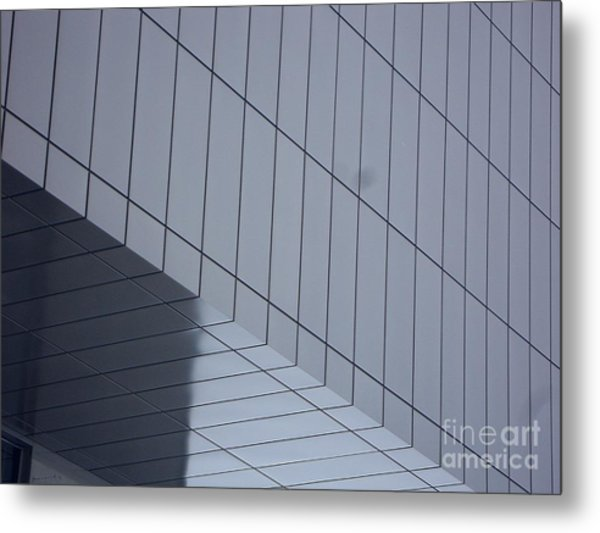 Soft Gray Glass Metal Print