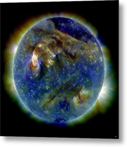Solar Flare, 1 August 2010, Sdo Image Metal Print by Nasa