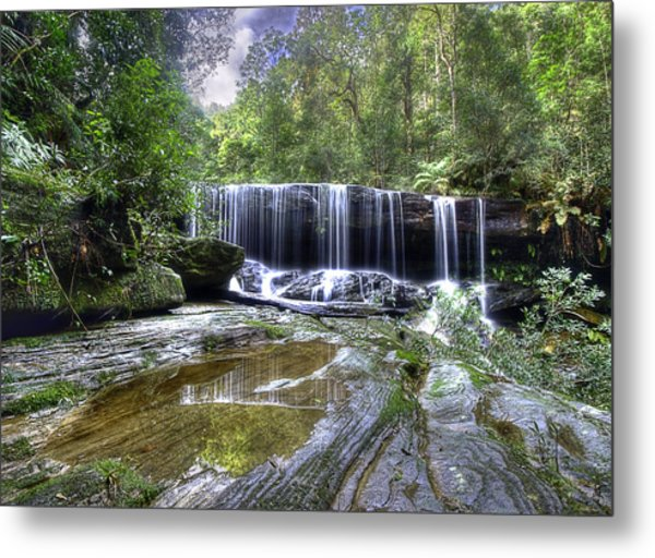 Somersby Falls Metal Print by Barry Culling