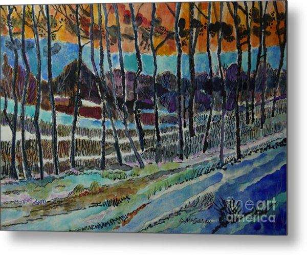 Somerset Pa Snow Scene 2 Metal Print by Donald McGibbon