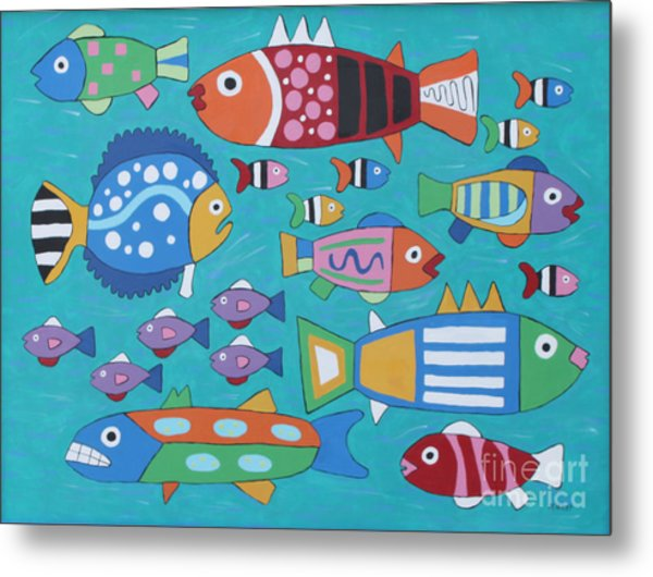 Something's Fishy Metal Print by Marilyn West