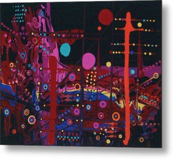 Sometimes I Even Dream In Neon Metal Print by Charlotte Nunn