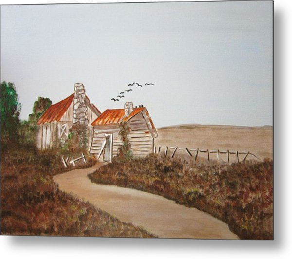 Somewhere In The Countryside Metal Print