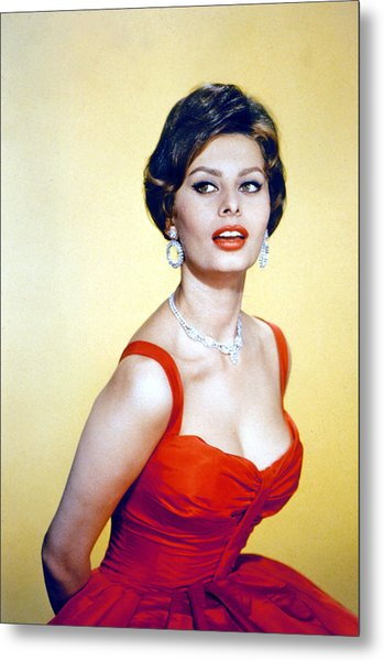 Sophia Loren, Late 1950s Metal Print by Everett