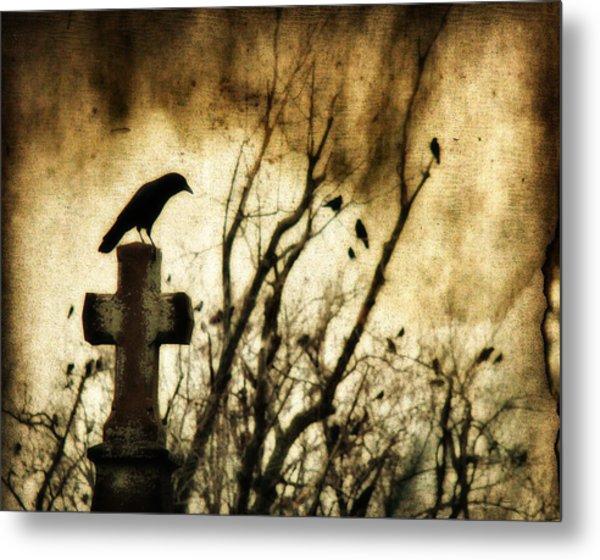 Soulful Crow Metal Print