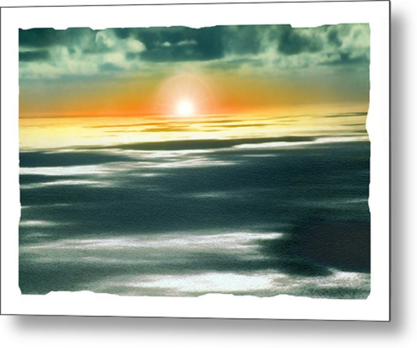 South Pacific Sunset Metal Print by Noah Brooks