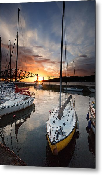 South Queensferry Harbour Metal Print by Keith Thorburn LRPS AFIAP CPAGB