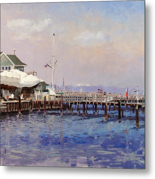 South Shore Marina Metal Print by Anthony Sell