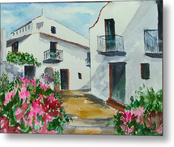 Spanish Balconies Metal Print