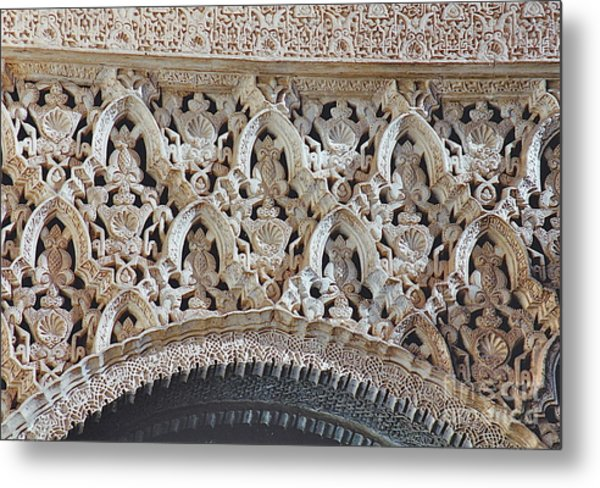 Spanish Intricacy Metal Print