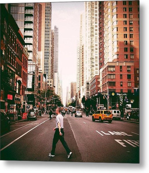 Speed Of Life - New York City Street Metal Print