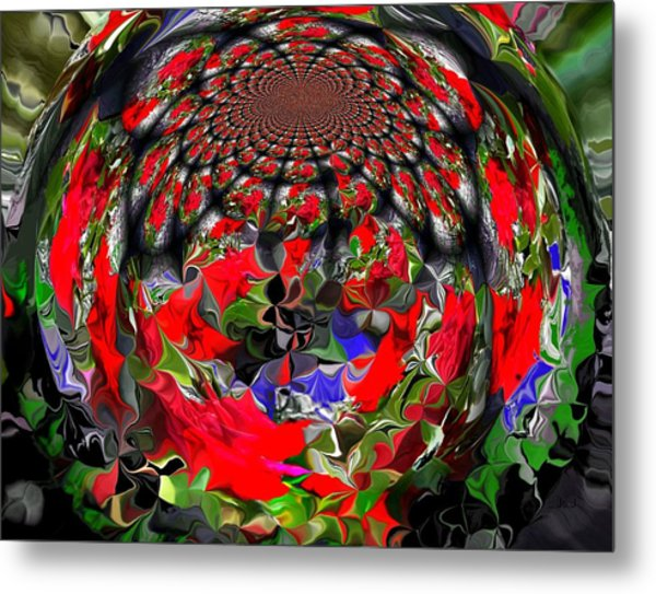 Spherical Bloom Metal Print by Jan Steadman-Jackson